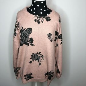 NEW Chelsea and Theodore pink floral sweater